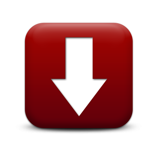 128412 simple red square icon arrows arrow thick down